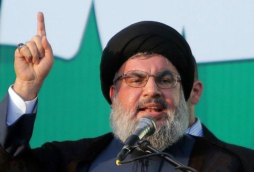 Hezbollah chief Hassan Nasrallah, pictured on September 17, 2012