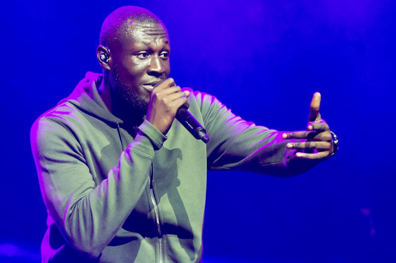 LONDON, ENGLAND - NOVEMBER 01: Stormzy performs at O2 Academy Brixton on November 1, 2019 in London, England. (Photo by Ollie Millington/Redferms)