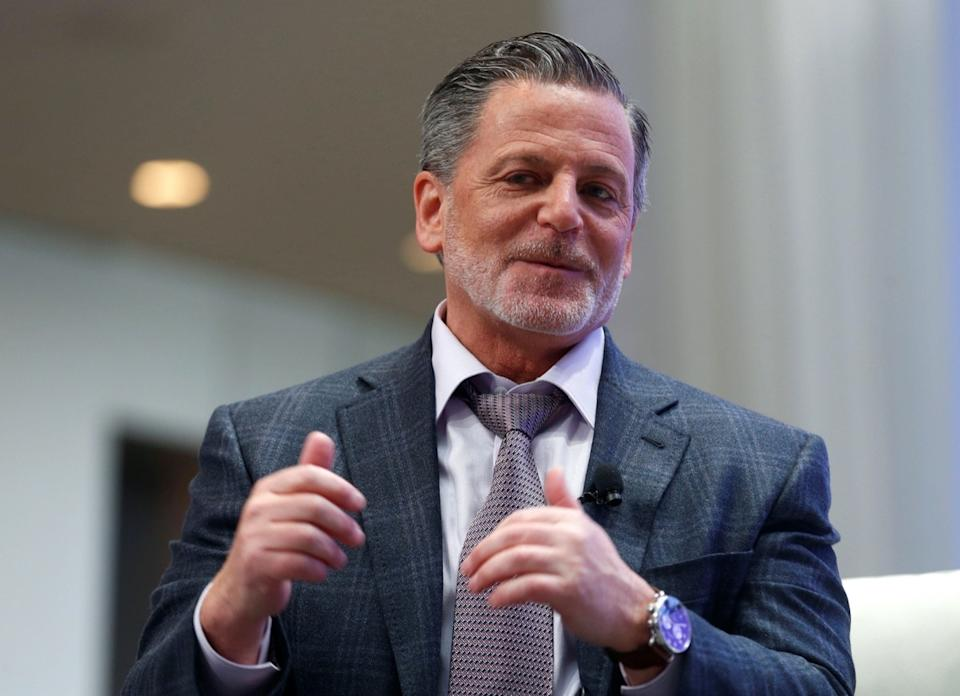 Detroit businessman Dan Gilbert takes part in a conversation as a featured speaker during an event at Cobo Center before the start of press days for the North American International Auto Show in Detroit, Michigan, U.S., January 8, 2017.