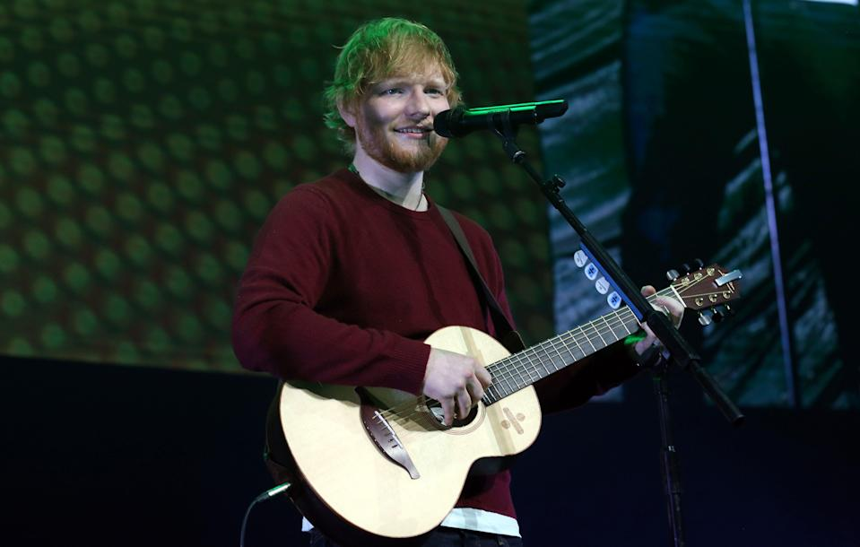 LONDON, ENGLAND - NOVEMBER 18: Ed Sheeran performs live on stage during 'Music 4 Mental Health' at The Roundhouse on November 18, 2018 in London, England. (Photo by Simone Joyner/Getty Images)