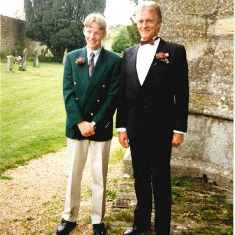 Jenson Button at his father's side, on the latter's wedding day - Credit: Jenson Button