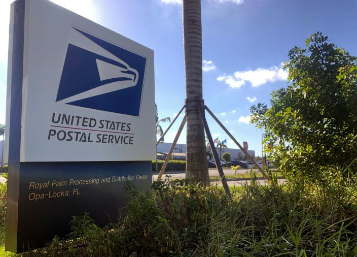 <p>The Opa-Locka, Florida, postal center on October 26, 2018, is the focus of an investigation into the mail bombs sent to Democratic officials and supporters and intelligence leaders. (Photo: Gianrigo Marletta/AFP/Getty Images) </p>