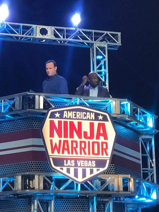 <p>The coolest thing about hosting American Ninja Warrior is that we get the best seats in the house… — @mattiseman </p>