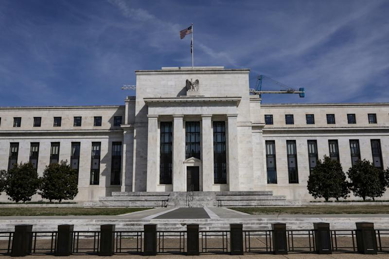 The Federal Reserve Board building on Constitution Avenue is pictured in Washington, U.S., March 27, 2019. REUTERS/Brendan McDermid