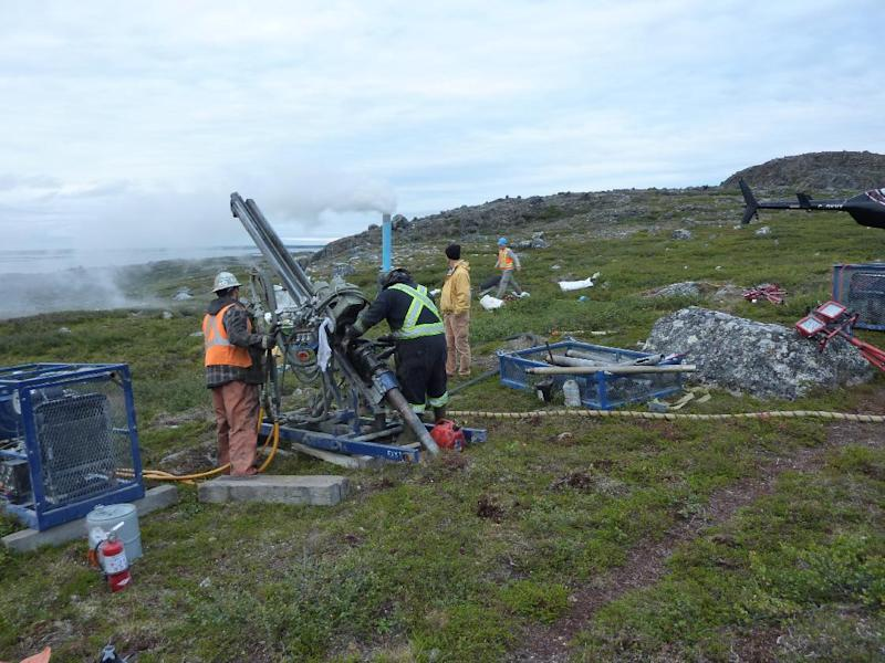 Miners drilling in Canada's Quebec