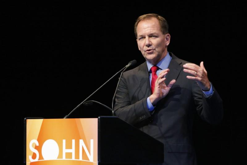 Jones, founder and chief investment officer of Tudor Investment Corporation, speaks at the Sohn Investment Conference in New York