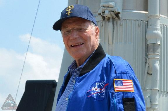 Scott Carpenter, the second U.S. astronaut to orbit the Earth, as seen at NASA's Kennedy Space Center in 2011.