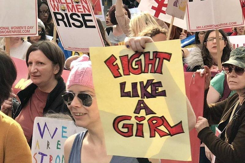 Women's march: The protest brought central London to a standstill (Caroline Murphy)