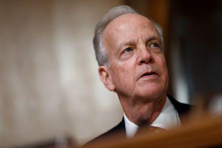 FILE PHOTO: U.S. Sen. Jerry Moran (R-KS) speaks during a U.S. Senate Committee on Environment and Public Works meeting on Capitol Hill in Washington, U.S. February 7, 2018. REUTERS/Eric Thayer -