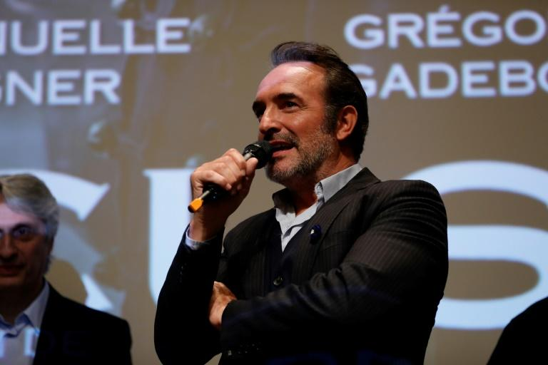 The star of Polanski's new film, Jean Dujardin, has cancelled a prime-time interview set for Sunday night (AFP Photo/Thomas SAMSON)