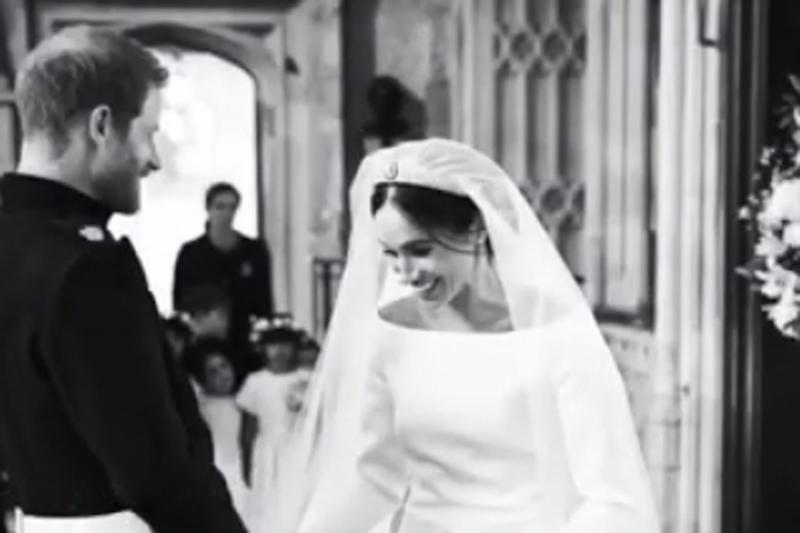 Meghan Markle and Prince Harry share sweet behind-the-scenes images of royal wedding as they celebrate their first anniversary