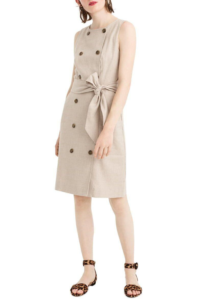 J.Crew Double Breasted Linen Blend Sheath Dress (Photo: Nordstrom)