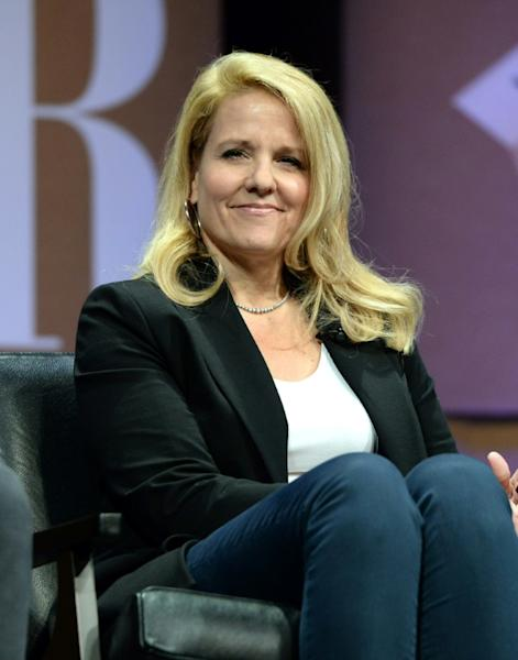 """Gwynne Shotwell (pictured 2014), who became the SpaceX president and operating chief operating officer, is a self-described """"nerd"""" (AFP Photo/Michael Kovac)"""