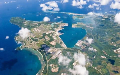 An aerial view of U.S. Naval Base Guam - Credit: Reuters