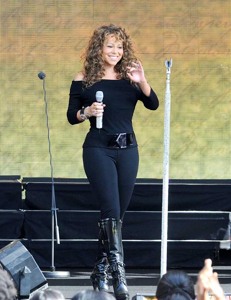 "Holy time warp! Dear Mariah, it's 2009, not 1991. Jamie McCarthy/<a href=""http://www.wireimage.com"" target=""new"">WireImage.com</a> - September 18, 2009"