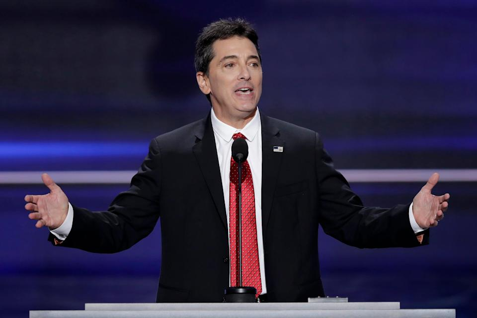 Scott Baio spoke at the GOP national convention in July 2016 in Cleveland.