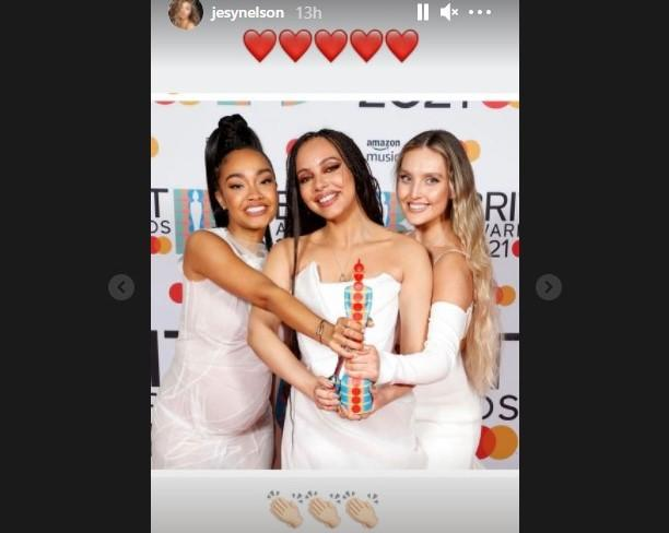 Jesy Nelson congratulated her Little Mix bandmates on their Brits victory. (Instagram)