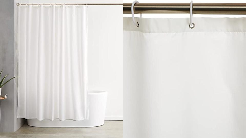 This inexpensive shower curtain has amazing ratings.