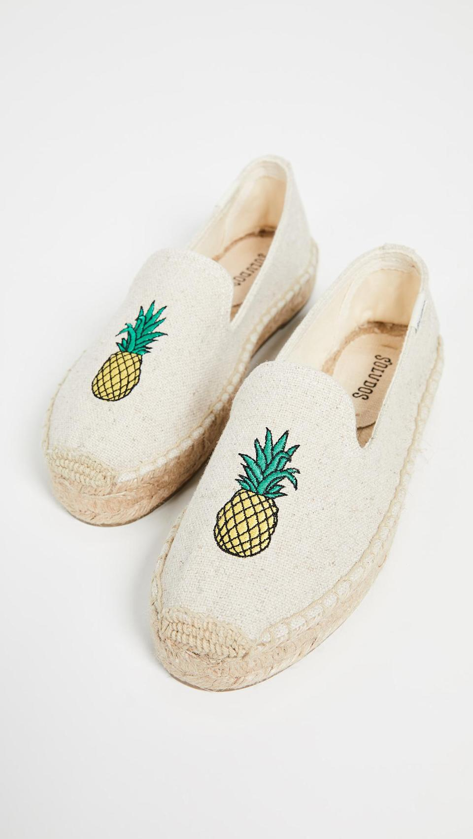 <p>And pineapple espadrilles are also a summer staple.</p>