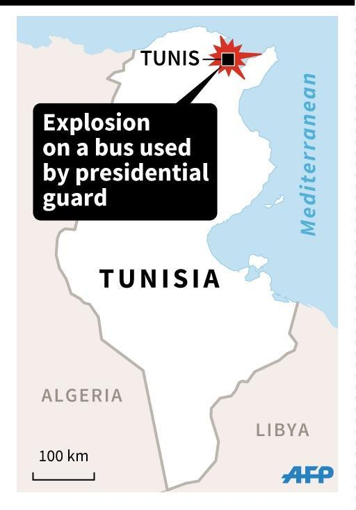 Map of Tunisia locating the capital Tunis (45x64mm) (AFP Photo/)
