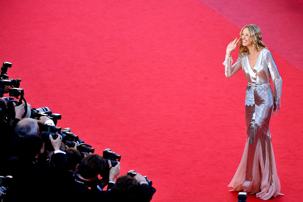 CANNES, FRANCE - MAY 21:  Model Petra Nemcova attends the 'Behind The Candelabra' premiere during The 66th Annual Cannes Film Festival at Theatre Lumiere on May 21, 2013 in Cannes, France.  (Photo by Gareth Cattermole/Getty Images)