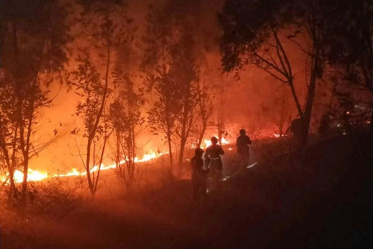 More than 140 fire engines, four helicopters and nearly 900 firefighters have been sent to tackle the blaze, according to local officials