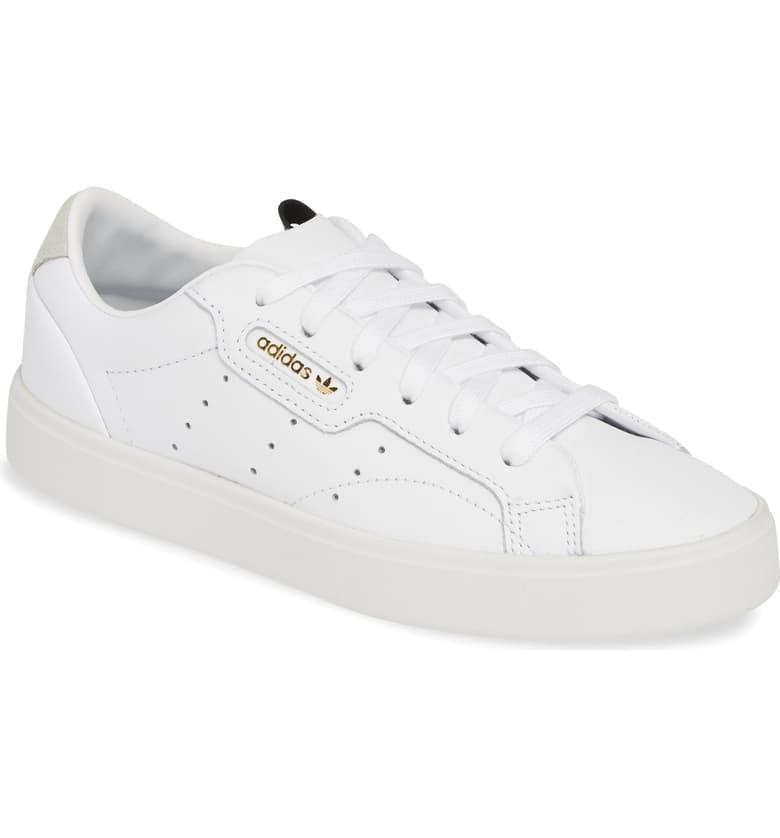 <p><span>adidas Sleek Leather Sneaker</span> ($48, originally $80)</p>