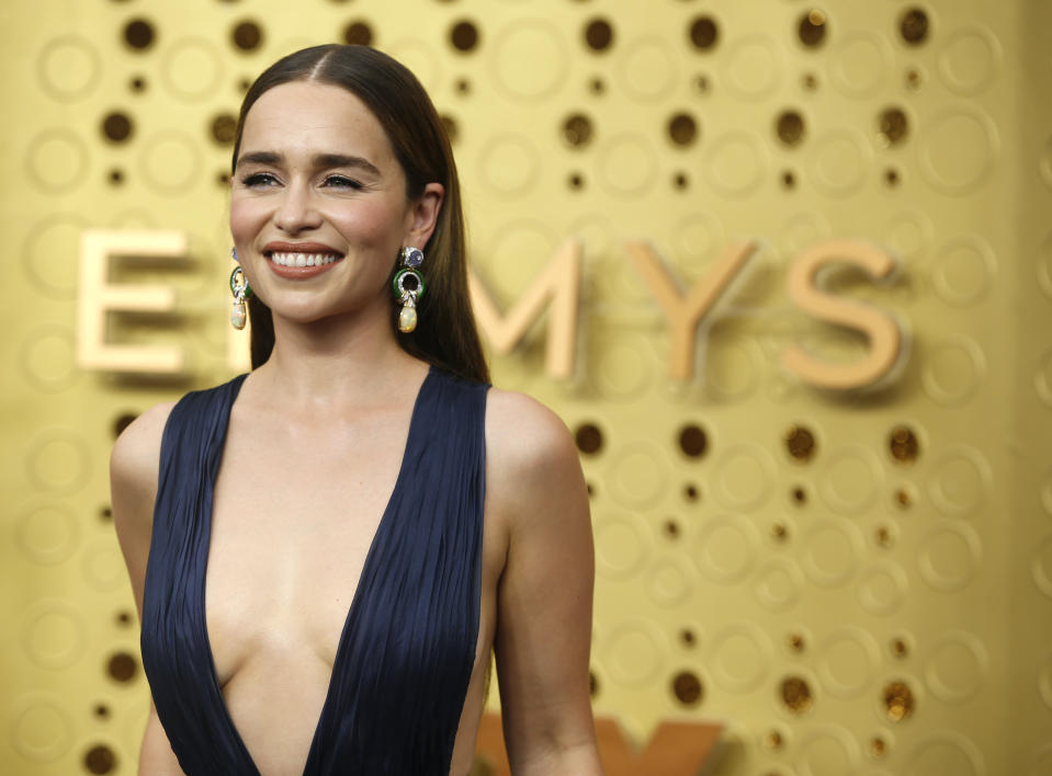 71st Primetime Emmy Awards - Arrivals - Los Angeles, California, U.S., September 22, 2019. Emilia Clarke. REUTERS/Mario Anzuoni