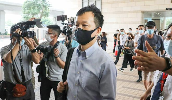 People Power lawmaker Raymond Chan appears at West Kowloon Court on Monday. Photo: K. Y. Cheng