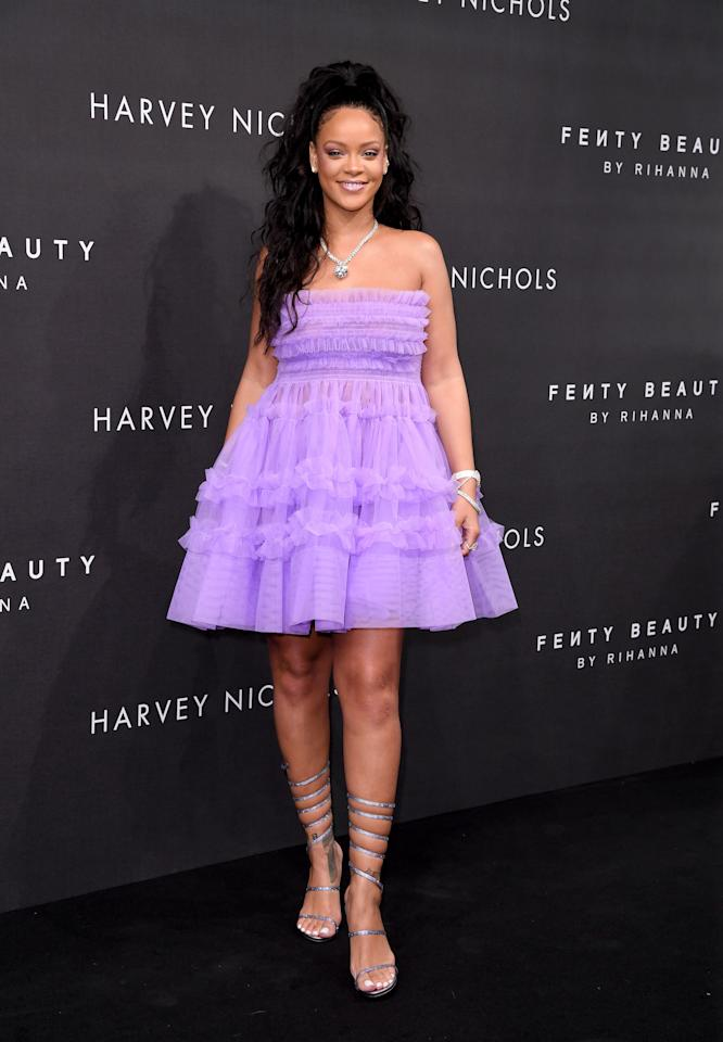 <p>Rihanna attends the Fenty Beauty by Rihanna launch party at Harvey Nichols Knightsbridge on Sept. 19, 2017, in London. (Photo: Getty Images) </p>