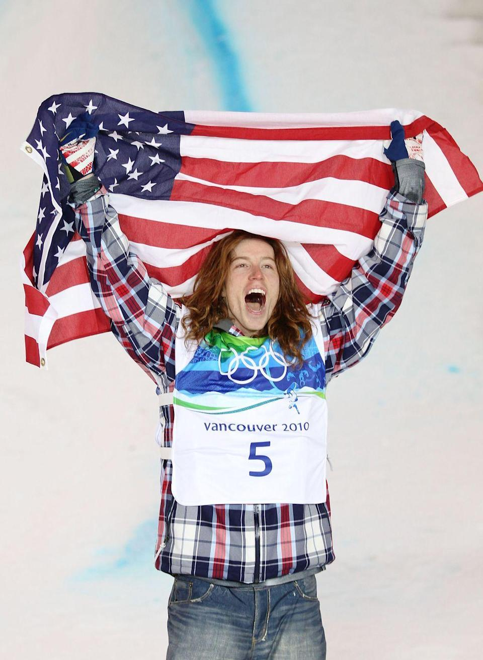 """<p>Shaun White had a stunning run in his second Olympics, with his signature """"Tomahawk""""—the first-ever Double McTwist 1260—winning gold in the men's halfpipe.</p>"""