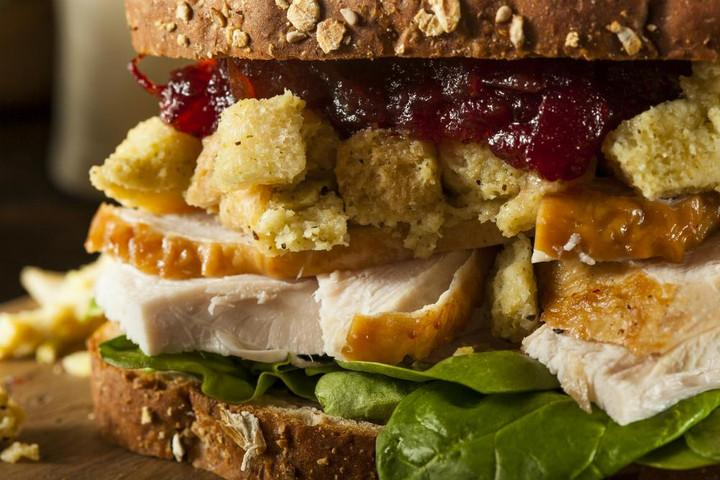 Thanksgiving leftovers Turkey Sandwich
