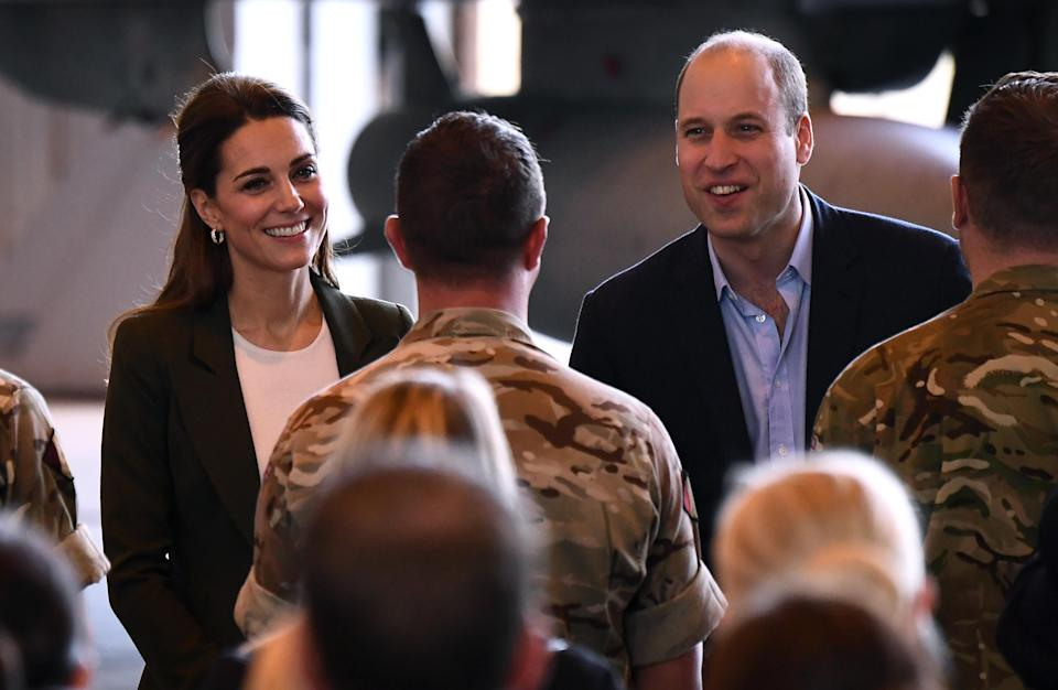Kate and William speak to serving personnel and families living at RAF Akrotiri base in Cyprus (Getty)