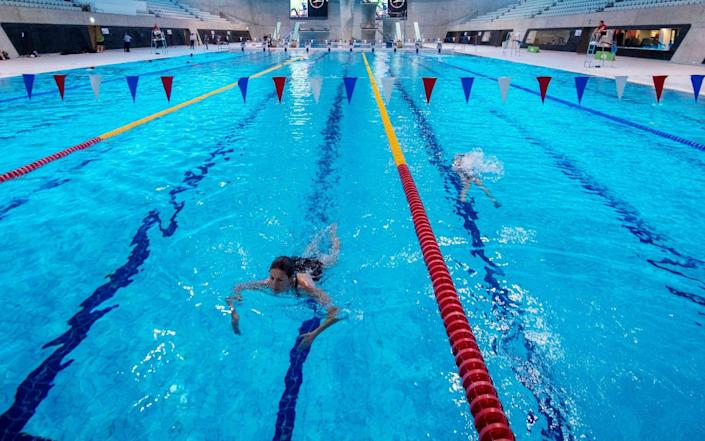 Swimming lessons were 'massively affected' as polls closed during lockdown, the report said - Paul Grover/The Telegraph