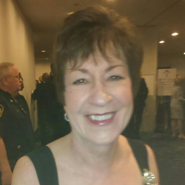 U.S. Senator for Maine, Susan Collins, arrives through the red carpet door. #WHCD.