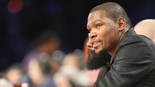 Kevin Durant's progress is coming along nicely, but Golden State Warriors are in no hurry to rush him back into NBA action.