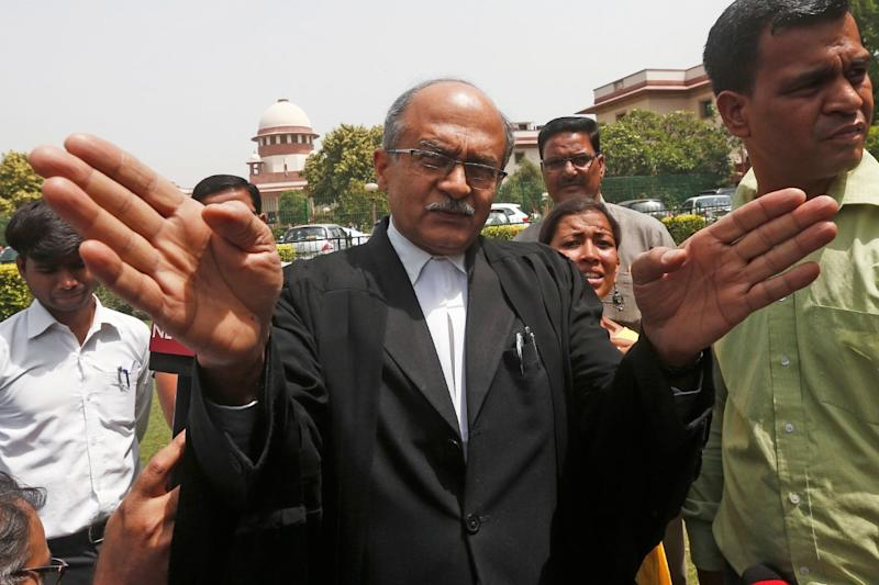 Prashant Bhushan Fined Re 1 by Supreme Court in Contempt Case, Faces 3 Month Jail if Not Paid