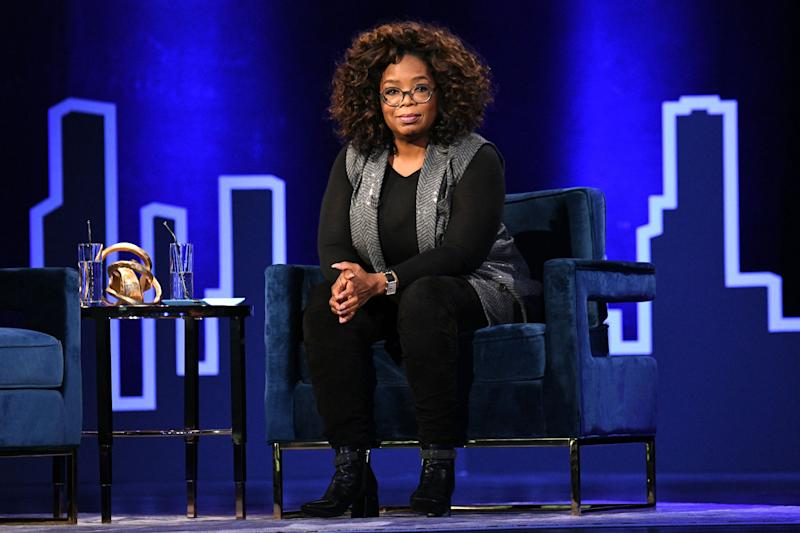 Oprah Winfrey on stage for a Q&A