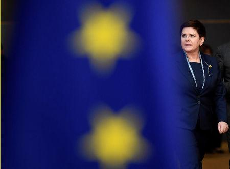 FILE PHOTO: Poland's Prime Minister Beata Szydlo arrives at the EU summit in Brussels