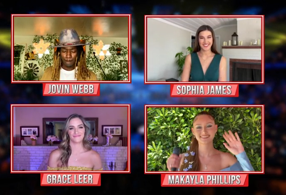 This week's eliminated 'American Idol' contestants says goodbye. (Photo: ABC)