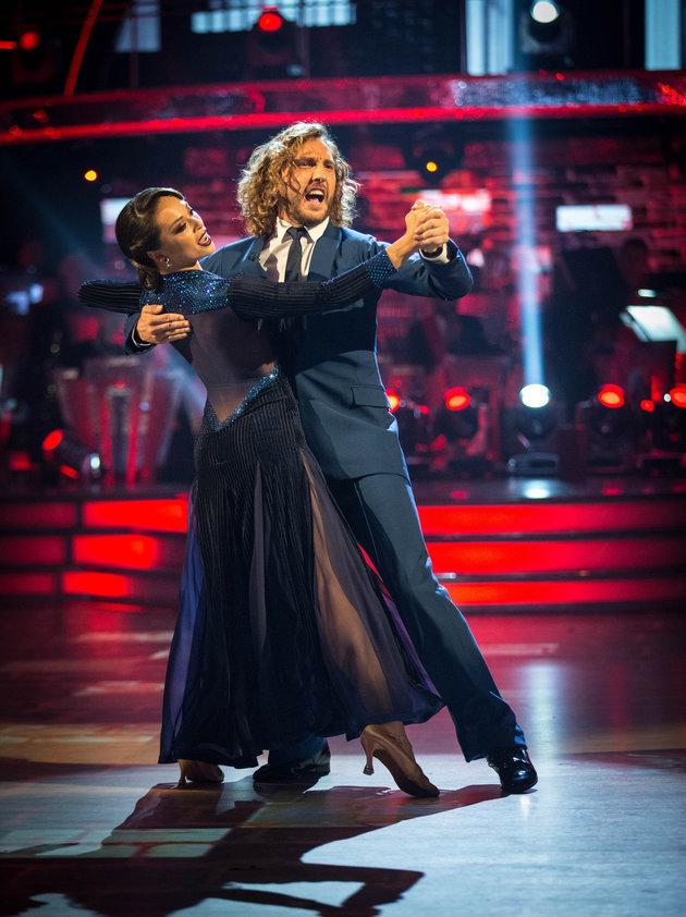 Seann Walsh and his dance partner Katya Jones were caught kissing in the street last week.