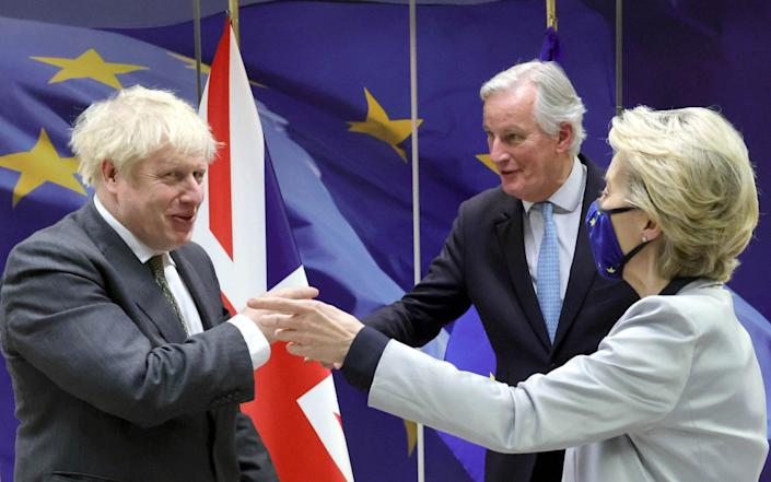 Mr Johnson will claim the UK won victories on several key issues - Andrew Parsons / No10 Downing Street