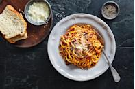 """<p><a href=""""https://www.delish.com/uk/food-news/a29856500/bolognese-ingredients/"""" rel=""""nofollow noopener"""" target=""""_blank"""" data-ylk=""""slk:Bolognese"""" class=""""link rapid-noclick-resp"""">Bolognese</a> all day long, baby. </p><p>More spaghetti recipes: </p><p><a href=""""https://www.delish.com/uk/cooking/recipes/a28841207/tomato-butter-spaghetti-recipe/"""" rel=""""nofollow noopener"""" target=""""_blank"""" data-ylk=""""slk:Tomato butter spaghetti"""" class=""""link rapid-noclick-resp"""">Tomato butter spaghetti</a><a href=""""https://www.delish.com/uk/cooking/recipes/a29455863/creamy-three-cheese-spaghetti-recipe/"""" rel=""""nofollow noopener"""" target=""""_blank"""" data-ylk=""""slk:Creamy three-cheese spaghetti"""" class=""""link rapid-noclick-resp""""><br>Creamy three-cheese spaghetti</a><a href=""""https://www.delish.com/uk/cooking/recipes/a29482827/easy-chicken-spaghetti-recipe/"""" rel=""""nofollow noopener"""" target=""""_blank"""" data-ylk=""""slk:Chicken spaghetti"""" class=""""link rapid-noclick-resp""""><br>Chicken spaghetti</a><a href=""""https://www.delish.com/uk/cooking/recipes/a29261185/brie-spaghetti-recipe/"""" rel=""""nofollow noopener"""" target=""""_blank"""" data-ylk=""""slk:Brie spaghetti"""" class=""""link rapid-noclick-resp""""><br>Brie spaghetti</a><a href=""""https://www.delish.com/uk/cooking/recipes/a29067841/easy-baked-spaghetti-recipe/"""" rel=""""nofollow noopener"""" target=""""_blank"""" data-ylk=""""slk:Baked spaghetti"""" class=""""link rapid-noclick-resp""""><br>Baked spaghetti</a><a href=""""https://www.delish.com/uk/cooking/recipes/a28868982/best-spaghetti-and-meatballs-recipe/"""" rel=""""nofollow noopener"""" target=""""_blank"""" data-ylk=""""slk:Spaghetti and meatballs"""" class=""""link rapid-noclick-resp""""><br>Spaghetti and meatballs</a></p>"""