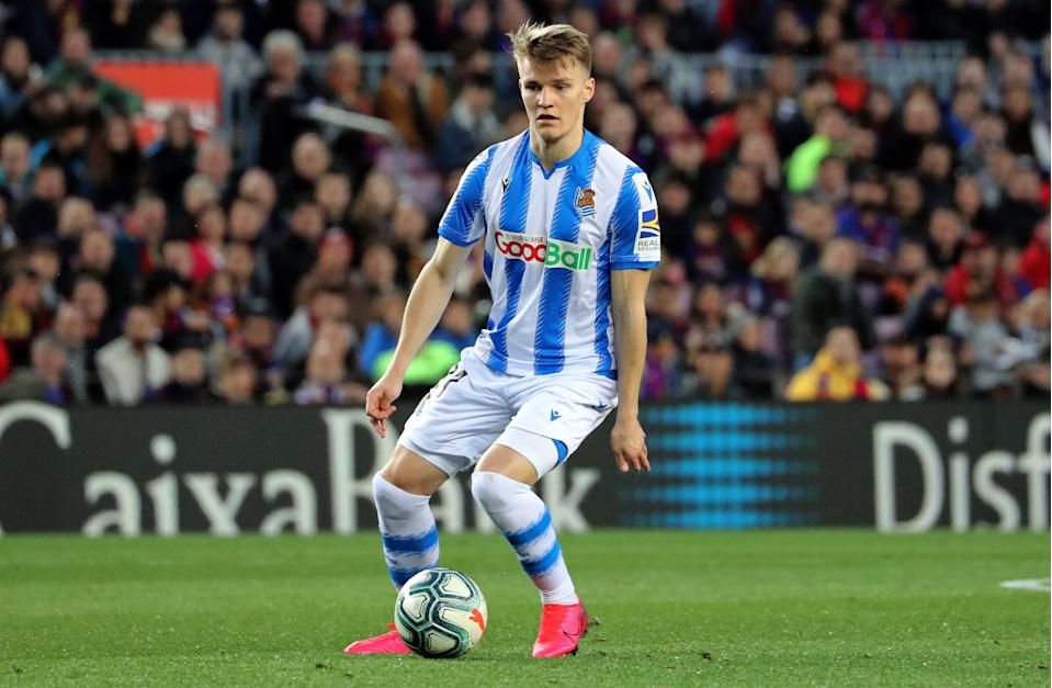 Martin Odegaard during the match between FC Barcelona and Real Sociedad, corresponding to the week 27 of the Liga Santander, played at the Camp Nou Stadium, on 07th March 2020, in Barcelona, Spain. (Photo by Joan Valls/Urbanandsport /NurPhoto via Getty Images)
