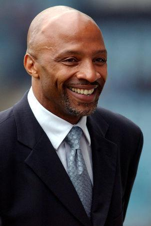 FILE PHOTO: Football - Nationwide Division 1 , Coventry City v Grimsby Town, 14/9/02 Ex Coventry City player Cyrille Regis Action Images via Reuters/Paul Gilham/File Photo