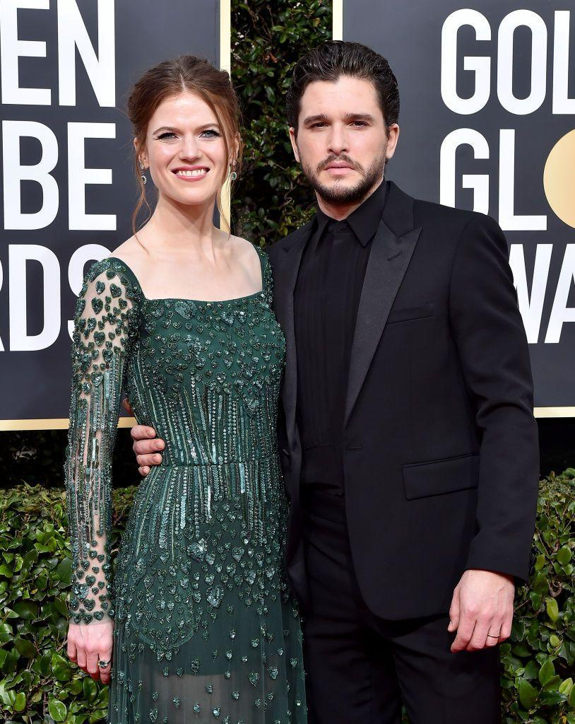 """<p>Rose Leslie and Kit Harington have welcomed their first child, a baby boy. </p><p>The couple, who met and fell in love on the set of Game of Thrones, announced Leslie's pregnancy in September 2020 in Make magazine, with the actor showing her baby bump on the publication's cover. </p><p>Over the years, the couple have kept their relationship relatively private, with close friends including GoT co-stars <a href=""""https://www.elle.com/uk/life-and-culture/a31187432/sophie-turner-fashion-regret/"""" rel=""""nofollow noopener"""" target=""""_blank"""" data-ylk=""""slk:Sophie Turner"""" class=""""link rapid-noclick-resp"""">Sophie Turner</a> and Maisie Williams attending their 2018 nuptials. </p><p>The pair were photographed in London (via <a href=""""https://pagesix.com/2021/02/16/kit-harington-rose-leslie-photographed-with-baby/"""" rel=""""nofollow noopener"""" target=""""_blank"""" data-ylk=""""slk:Page Six"""" class=""""link rapid-noclick-resp"""">Page Six</a>) on Tuesday February 16 with a baby, prompting speculation that Leslie had given birth to their first child. A representative from Harington's team confirmed news of the birth to <a href=""""https://www.eonline.com/news/1225088/rose-leslie-gives-birth-welcomes-first-baby-with-kit-harington"""" rel=""""nofollow noopener"""" target=""""_blank"""" data-ylk=""""slk:E!"""" class=""""link rapid-noclick-resp"""">E!</a>, revealing the two welcomed a baby boy and are 'very very happy!' </p><p>The baby's name and birth date remains unknown.<br></p>"""