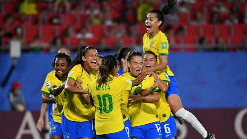 Marta scores record 17th World Cup goal as Brazil advance to knockouts