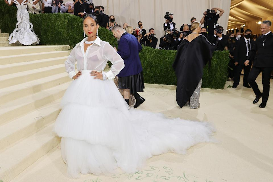 """<h1 class=""""title"""">Alicia Keys, The 2021 Met Gala Celebrating In America: A Lexicon Of Fashion - Arrivals</h1><cite class=""""credit"""">Getty</cite>"""