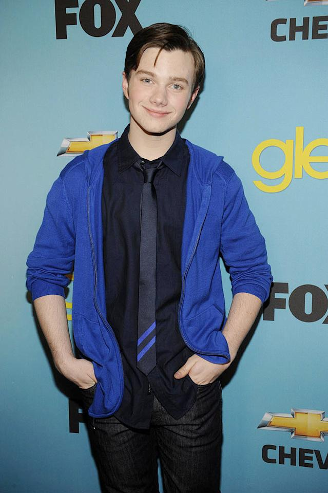 """<a href=""""/chris-colfer/contributor/2427769"""">Chris Colfer</a> (""""Kurt Hummel"""") arrives at Fox's <a href=""""/glee/show/44113"""">""""Glee""""</a> Spring Premiere Soiree at Chateau Marmont on April 12, 2010 in Los Angeles, California."""