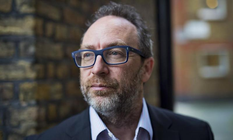 Jimmy Wales: harbouring the lofty ambition of solving the fake news problem.